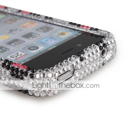 egnet for Apple iPhone 4 full diamant Protex 3d pinkhear 1 #