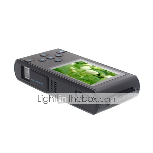 Mini Multimedia Projector And Media Player With Remote Control