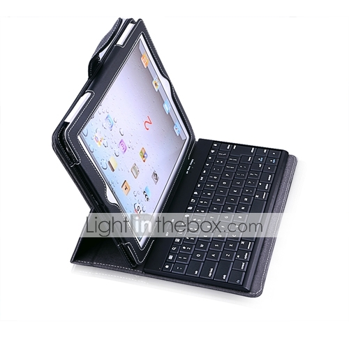 Ipad Case With Ultra Slim Bluetooth Keyboard