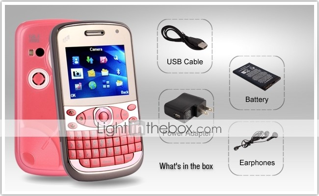 F33 - Triple SIM 2.0 Inch Qwerty Keyboard Cell Phone (Dual Camera, TV, MP3 MP4 Player)