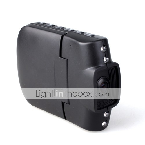 Car DVR + Car Black Box + PC Camera + 2.5 Inch TFT LCD + LED Light + Night Vision + Wide Angle