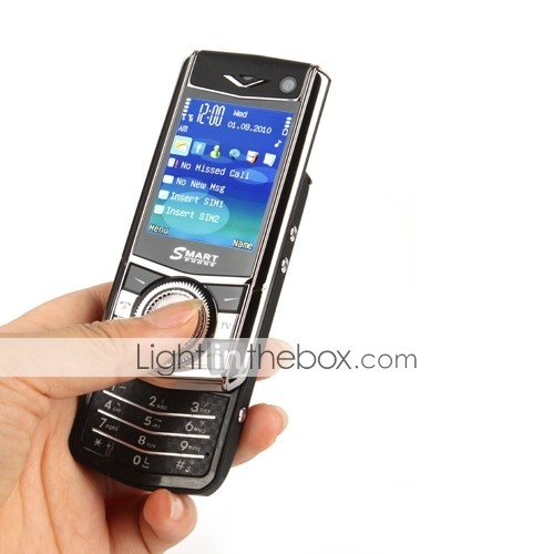 Dual SIM 2.4 Inch Slide Phone (Quadband TV FM JAVA)