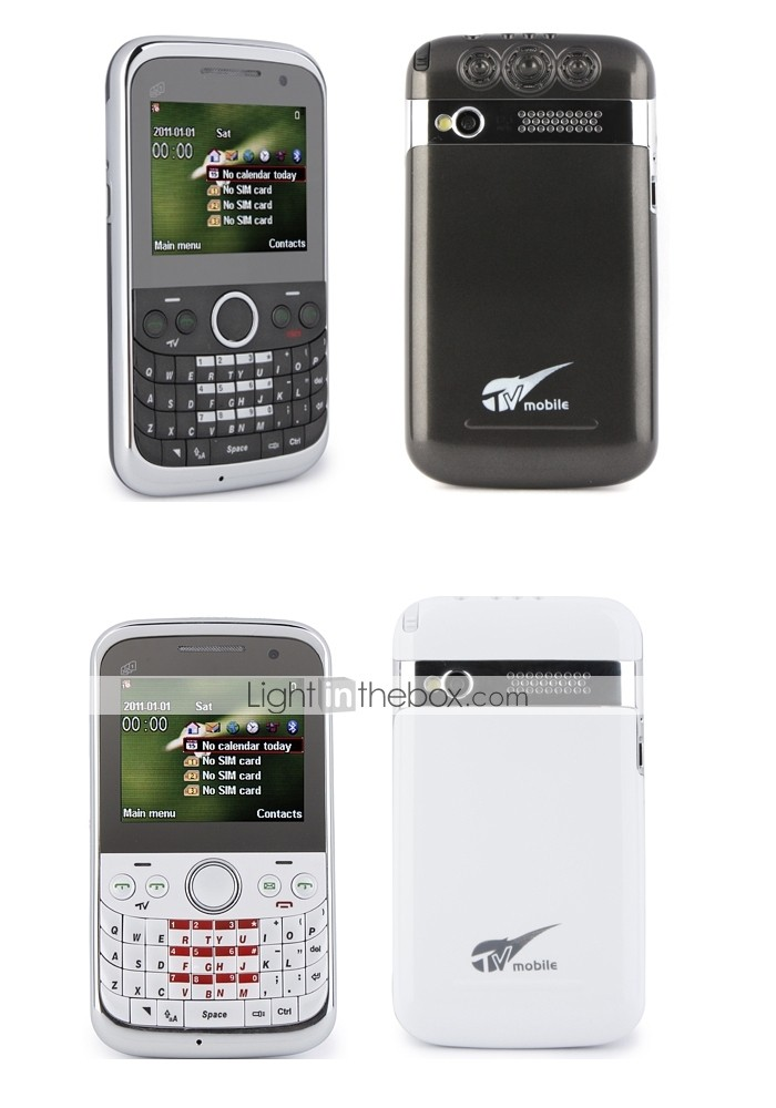 Triple SIM 2.3 Inch Qwerty Keyboard Cell Phone (Quadband)