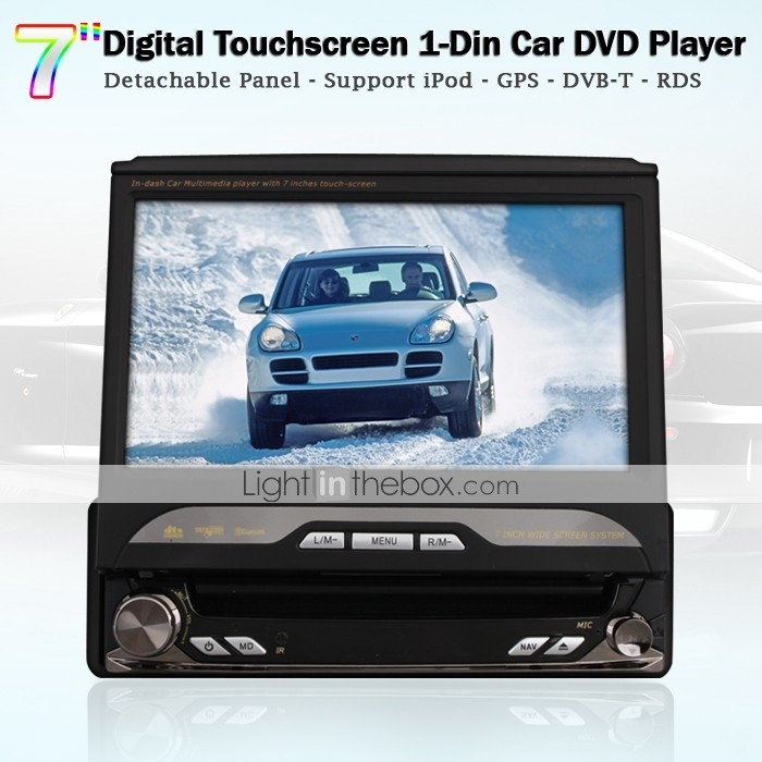 7 tommer touchscreen bil DVD-afspiller med gps dvb-t aftagelige panel