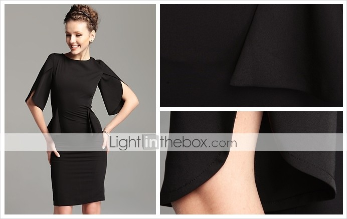TS Vintage Style Open Sleeve Sheath Dress