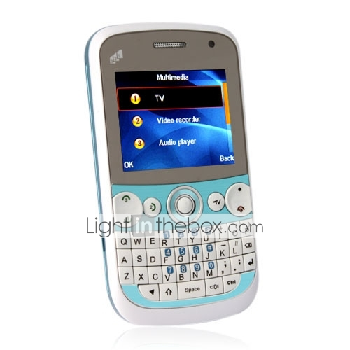 f5 - thriple celular sim teléfono celular con teclado QWERTY (tv, mp3, mp4, bluetooth)