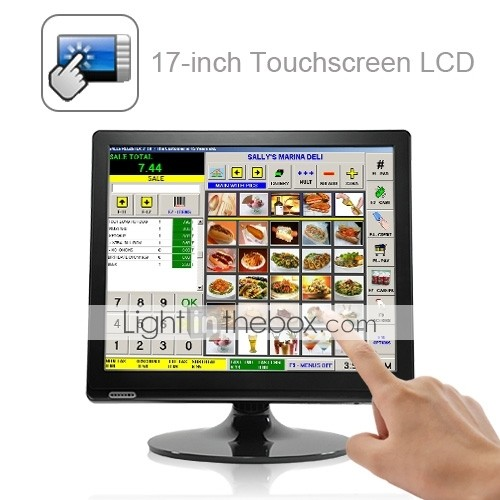 17-inch touchscreen LCD-scherm met vga voor POS en thuis