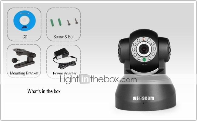 Wanscam Wired Pan Tilt IP Camera With 2 Way Audio IR Night Vision