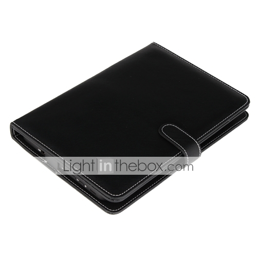 Leather Protective Case Built-in the Chocolate Keyboard + Stand for 10.1 Inch Tablet PC (Black)