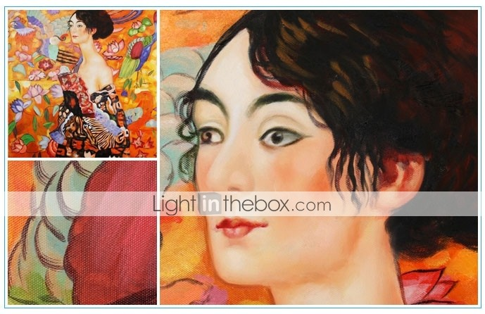 Hand-painted Gustav Klimt Oil Painting  with Stretched Frame
