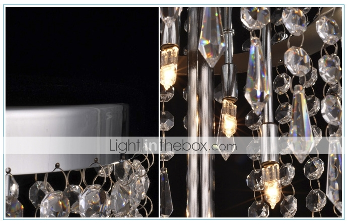 80W Table Light with 4 Lights Crystal Drops Featured(G4 Bulb Base)
