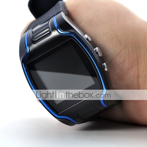 Quadband Wrist Watch Cell phone with SOS Button and GPS Tracker (1.5 Inch LCD Screen)