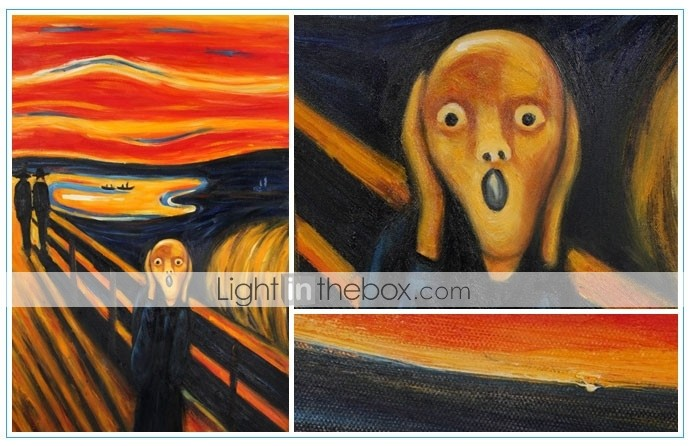 Hand-painted Oil Painting The Scream by Edvard Munch with Stretched Frame