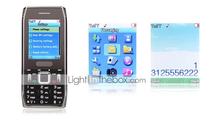 x7 - cellulare dual sim 2,2 pollici bar (tv, fm)
