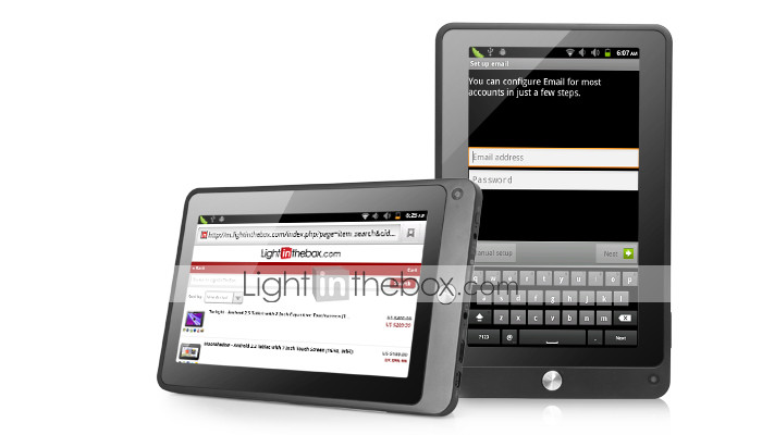 Thor - tablet con Android 2.3 da 7 pollici touchscreen capacitivo (1.2GHz, 8GB, DDR3 512mb, grafica 3d, 1080p)