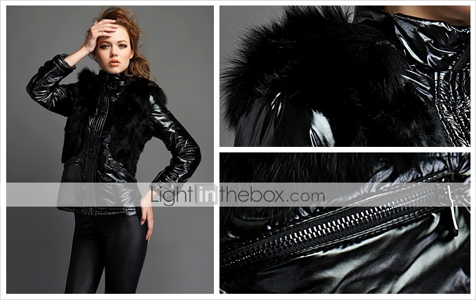 TS Fur Embellished Puffer Jacket(2 Colors)