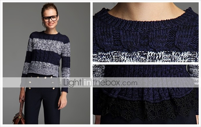 TS Lace Embroidered Knit Sweater Shirt