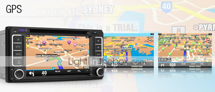 7 tommer bil dvd-afspiller til Toyota Vios 2009-2010 (GPS, tv, bluetooth, RDS)