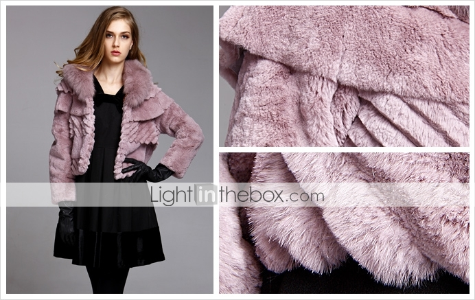 TS Layered Rabbit Fur Coat