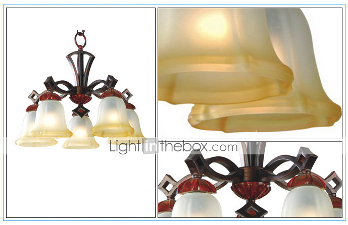 Antique Inspired Chandelier with 5 Lights