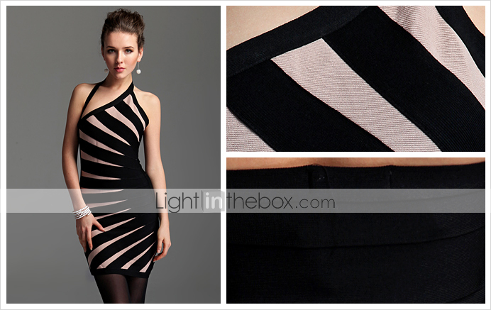 ts asymtrique robe licou bodycon