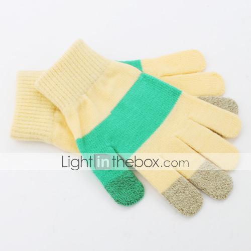 des gants tactiles pour iPhone et iPad (jaune et vert)