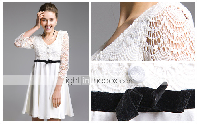 TS Quarter-length Lace Dress