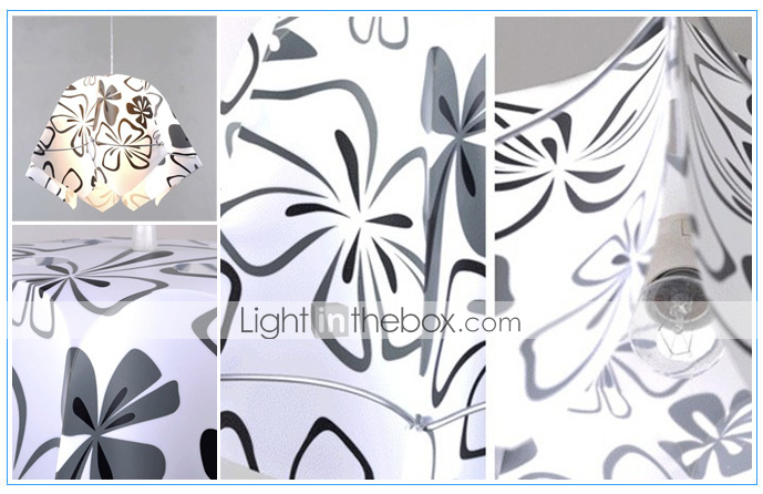 Elegant Pendant Light with Floral Pattern