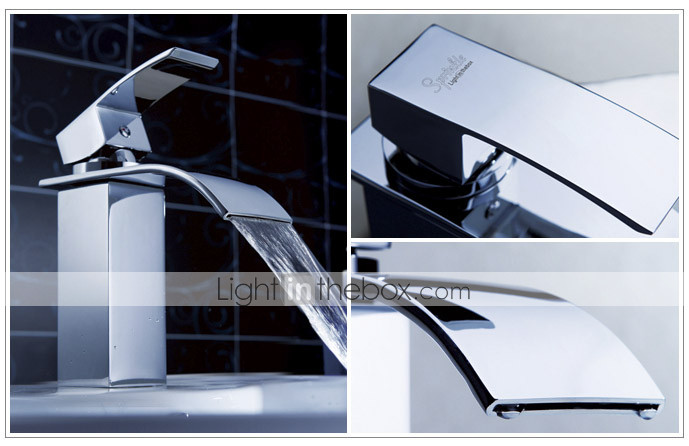 Sprinkle® by Lightinthebox - Waterfall Bathroom Sink Faucet (Chrome Finish)