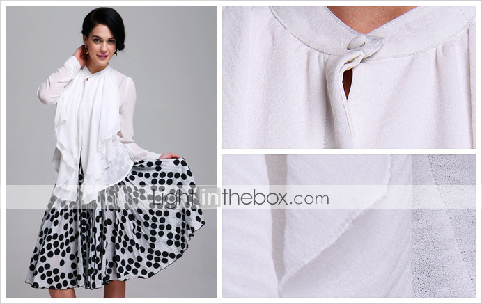 TS Double Layer Ruffle Chiffon Blouse Shirt (More Colors)