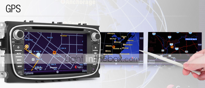 7 Inch Car DVD Player for Ford Mondeo 2009-2011 with Canbus (GPS, DVB-T, Bluetooth, RDS)