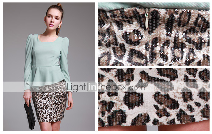 ts leopard print paillettes gonna