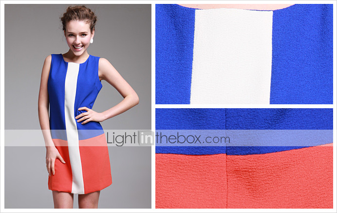 TS Simplicity Sleeveless Color Block Dress (More Colors)