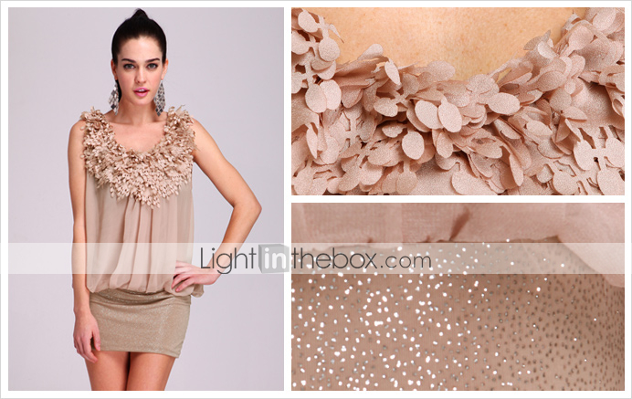 TS Floral Embellished Glittering Stretchy Dress (More Colors)