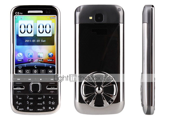 C5TV - Dual SIM 2.8 Inch Touchscreen Cellphone (FM TV Dual Camera)