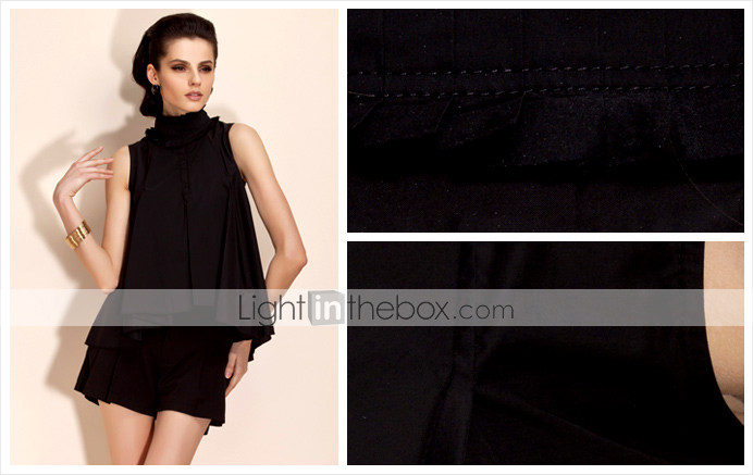 TS Pleated Neckline Ruffle Blouse Shirt (More Colors)