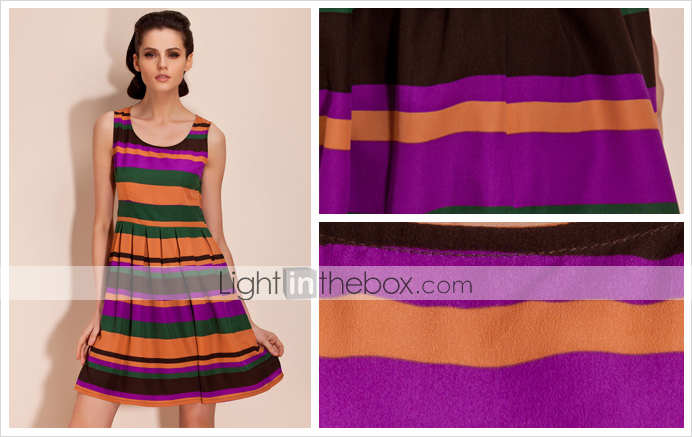 TS Irregular Stripe Swing Dress