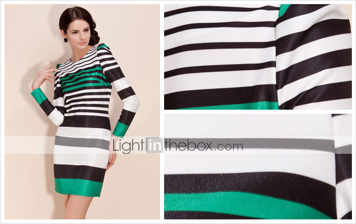 TS Color Stripped Tunic Dress