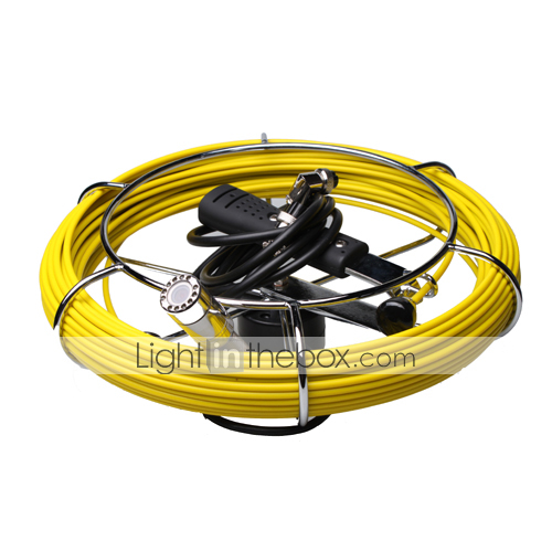 50m Cable Pipe and Wall Inspection System with Built-in DVR and White LEDs Camera