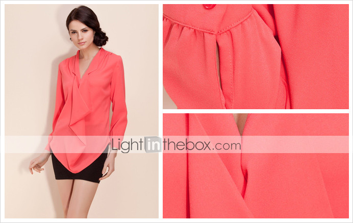 TS Draped Collar Loose Blouse Shirt (More Colors)
