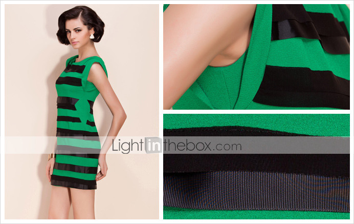 TS Ribbon Color Block Stripe Dress (More Colors)