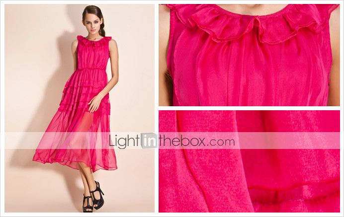 TS Ruffle Collar Maxi Dress (More Colors)