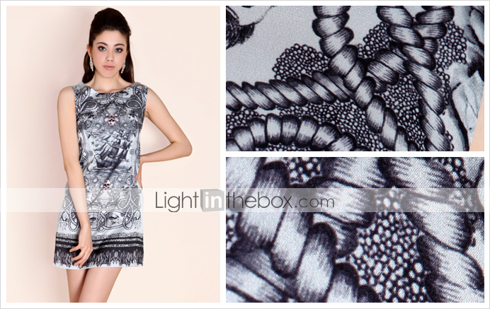 TS Floral Skull Print Dress (More Colors)