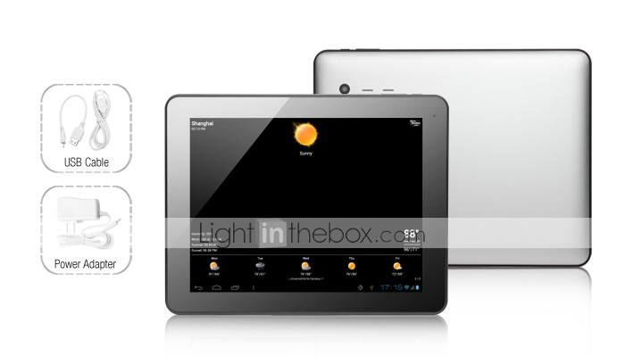logos - Android 4.0 VA tablette avec cran tactile 9,7 pouces capacitif ips (8gb, 1g ram, 1.2GHz, 3g, double camra, une sortie HDMI)