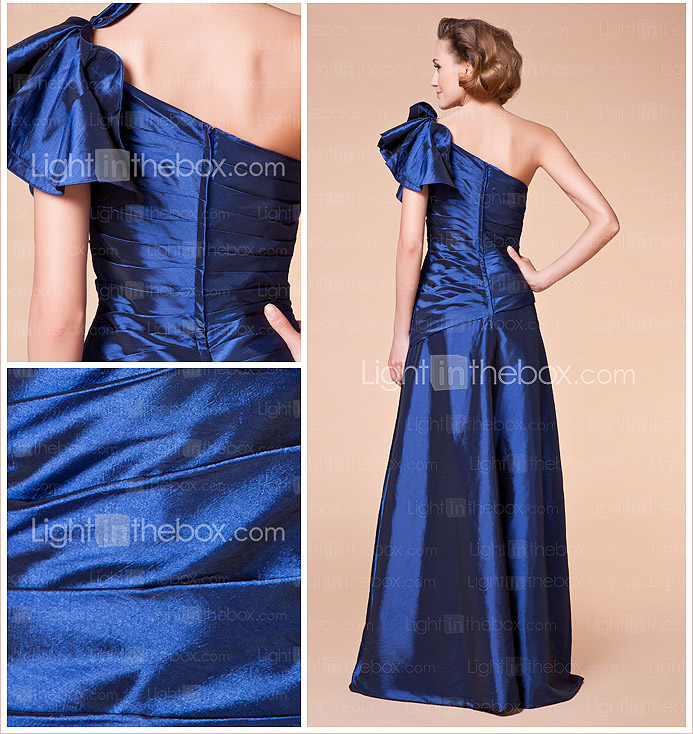 A-line One Shoulder Floor-length Taffeta Mother of the Bride Dress