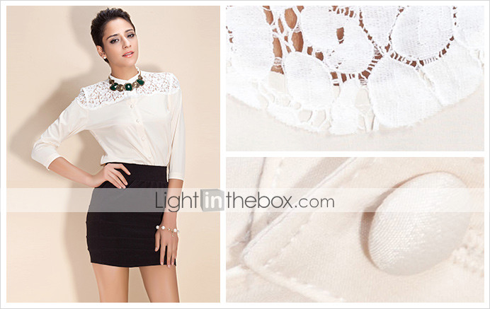 TS Vintage Lace&Cotton Blouse