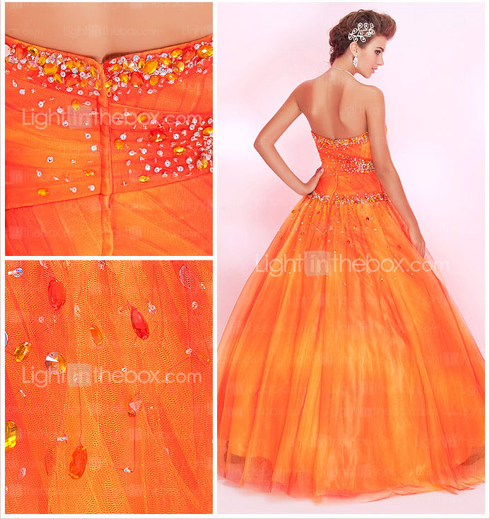 Ball Gown Sweetheart Floor-length Tulle Prom Dress