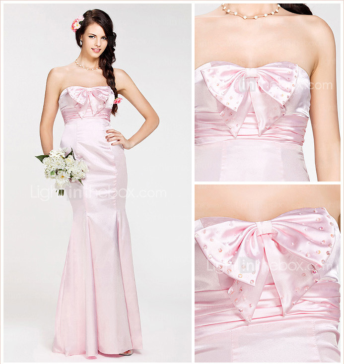 Trumpet/ Mermaid Sweetheart Floor-length Stretch Satin Bridesmaid Dress