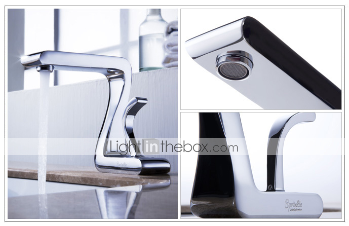 Sprinkle® - by lightinthebox - in ottone massiccio lavandino del bagno rubinetto cromato