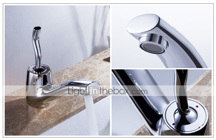 Sprinkle® by Lightinthebox - Morden Solid Brass Bathroom Sink Faucet Chrome Finish